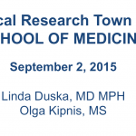 Clinical Research Town Hall – Sep. 2, 2015